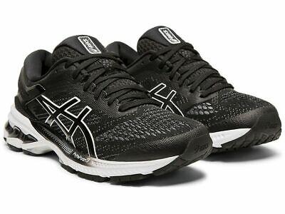 ASICS Women's Gel-Kayano 26 Black / White Running Shoe Size 8