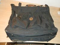 Carlton Canvas Overnight Suit bag in black