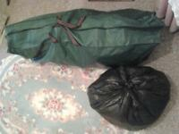 CHEAP FULL SET green xmas tree storage bag 100+ decorations tinsel West Devon first home tall 6 foot