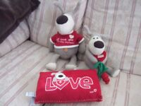 Boofle Stuffed Dogs and Cushion - Excellent Condition