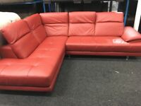 New/Ex Display ScS Thornhill Corner High Grade Leather Sofa