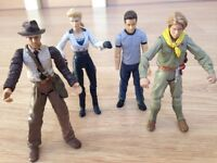 "Indiana Jones 4"" Figures, with Treasures and Cardbox case"
