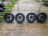 4x108 Track alloy wheels & Toyo R888