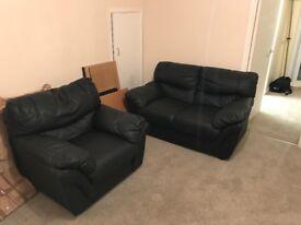 3/2/1 Seater Leather Sofa Set