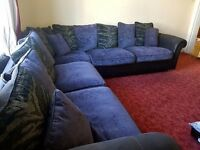 Corner sofa and cuddle/swivel chair