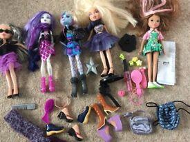 Moxie, Monster High, Bratz doll collection