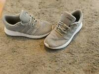 Grey addidas shoes size 5