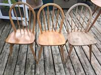 Ercol x 3 Windsor dining chairs