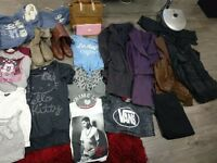 Job lot clothes, shoes, coats etc