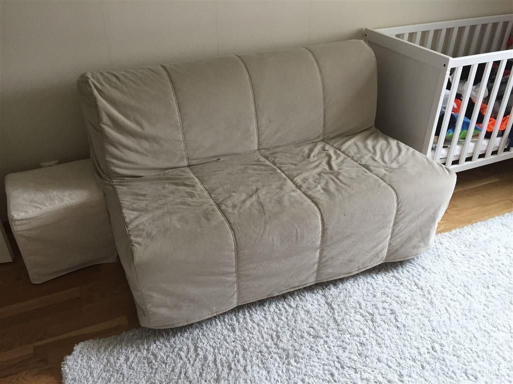 Beige Ikea Lycksele Double Sofa Bed Settee Futon Couch Daybed Possible Delivery In Wood Green