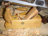 Vintage Schutz Ulmia OTT Horn (48 mm blade) Wooden Block Plane