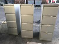 3 x 4 drawer filing cabinets, will consider splitting