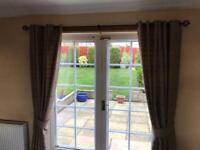 Dunelm Curtains and Tie Backs