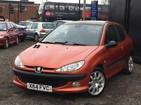 ★ PEUGEOT 206 GTI + FOGLIGHTS + ALLOYS + PX TO CLEAR + ★