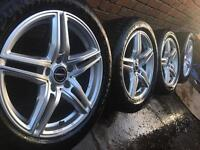 """As New 18"""" Genuine Borbet VW Transporter T5 T6 alloy wheels +as new Dunlop tyres CAN POST"""