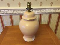 Pretty BHS Lamp Base with Gilt Trim - Very Good Condition