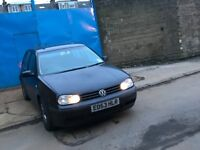 2003 Volkswagen Golf 1.6 petrol Match Hatchback 5door black MOT drive spot on hpi clea