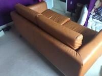 Herman two seater orange couch