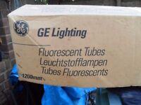BOX OF 25 FLUORESCENT LIGHT TUBES 4ft