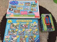 Thomas Peppa pig jigsaw, magnetic write board, doodle board