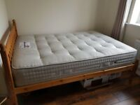 Double bed mattress and wooden frame