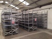 8 bays Galvenised SUPERSHELF industrial shelving 2m high ( pallet racking /storage)