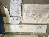 Mothercare Little Beep Beep Cot Bed Set