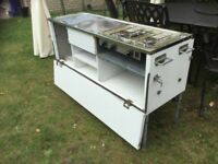 Camping kitchen, hob, sink and grill. ideal camper / horsebox conversion.