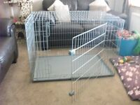 Large Quality Dog/Puppy crate with base