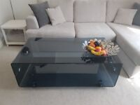 Stylish Glass Coffee Table in perfect condition. RRP is £214 - Bargain!