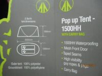 Summit 2 man pop-up tent AS NEW