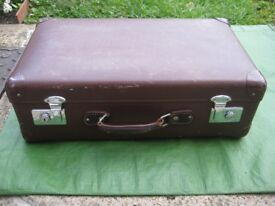 Vintage Classic Brown Hard Shell Globe-Trotter Suitcase for £45.00