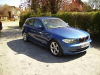 BMW 118 D.2 OWNERS FROM NEW. FULL SERVICE HISTORY .6 SPEED GEARBOX ,PERFECT CAR DRIVES MINT