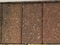 red patio edging bricks (approx 340) 8 inches x 4 inches