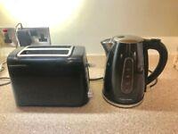 Black Morphy Richards Kettle & unbranded toaster