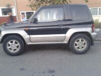RARE PAJERO JUNIOR 1.1 PETROL 4WD (AUTO) NEEDS FRONT BUMPER REPAIR