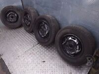 "Ford Transit (2006-2012) 16"" 4 x Steel Wheels + Tyres 215/75 R16 ref.AF2"