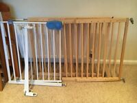 3 x stair gates (1 x iron and 2 x wooden lindam)
