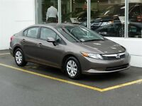 2012 Honda Civic LX Seulement 44$/ semaines taxes inclus!