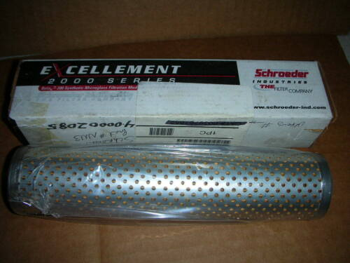 Schroeder NN3 Replacement Filter Element for NF30 Top Manifold Housing NOS!!