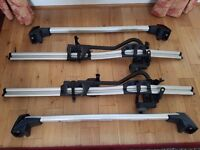 BMW supplied bike carriers and roof bars for 2013/14 X3 used twice complete with keys and locks