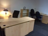 3x Wave Desks Good Condition Light Coloured Wood £120 Each