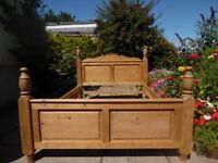 Lovely antique pine double bed in very good condition