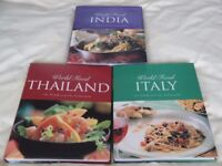 World Food Cookery Books - INDIA / THAILAND / ITALY