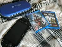 PSvita + case / cables / games