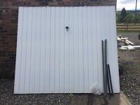 Up and Over White Steel Garage Door