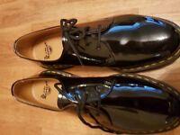 Dr Martens ladies black patent shoe - new size 9
