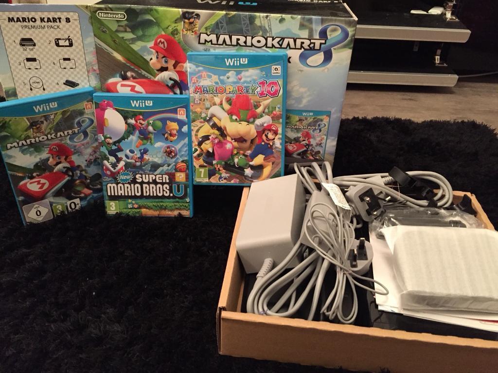 Wii U console mario kart 8 premium pack