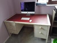 Handmade, white wood desk