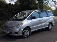 2001 TOYOTA PREVIA GS D4D, 2.0 DIESEL ENGINE, 8 SEATER WITH LONG MOT.